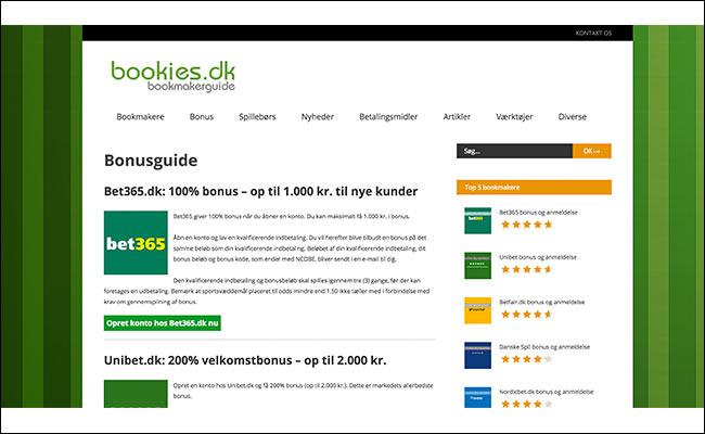 Bookies.dk - dansk bookmakerguide der guider dig til den rigtige spiludbyder