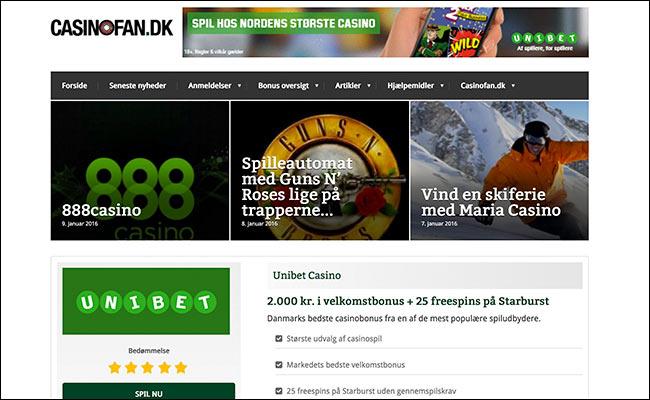 Casinofan.dk hjælper danske casinospillere med strategi, valg af spil og de bedste bonusser
